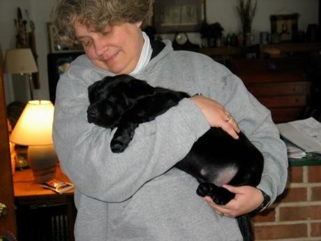 Puppy Kenya with Momma Joan